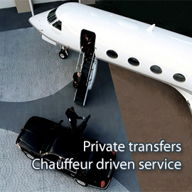 Chauffeur driven car rent, private airport transfers